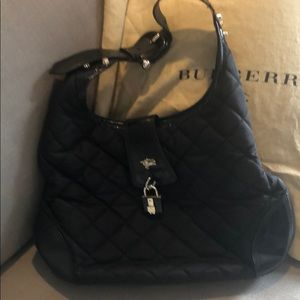 Burberry Nylon Quilted Brooke Hobo Bag